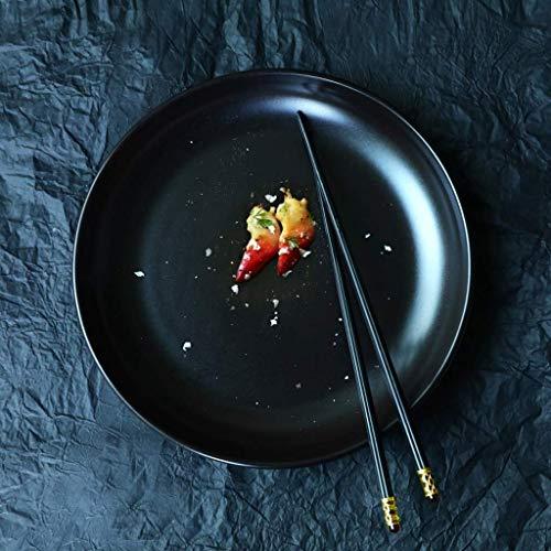 GaoF Vajilla Negra Mate Plato de Carne Plano de 10 Pulgadas (tamaño: 10 Pulgadas)