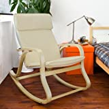 Haotian Comfortable Relax Rocking Chair, Lounge Chair Relax Chair with Cushion (FST15-W)