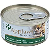 Applaws Natural Cat Food, Tuna Fillet with Seaweed, In Broth Tin, 70g (Pack of 24)