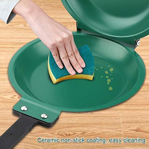 Annadue Sartén Antiadherente, Utensilios de Cocina para Hacer panqueques Verdes, sartén abatible, Accesorios de Cocina