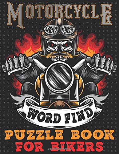 Motorcycle Word Find Puzzle Book For Bikers: Bike Riding Enthusiasts