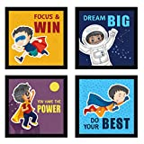 IDEAL SIZE AND QUALITY - These cartoon photo frames for kids (23 cm x 23 cm x 4 cm each) are made of premium quality professionally matted Composite Wood; a protective plexiglass cover in front and strong MDF wood backing. Which make it light weight,...