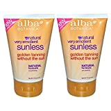 Alba Botanica Alba botanica natural very emollient sunless tanning lotion with natural formula, 4 oz. (113 g) (pack of 2)