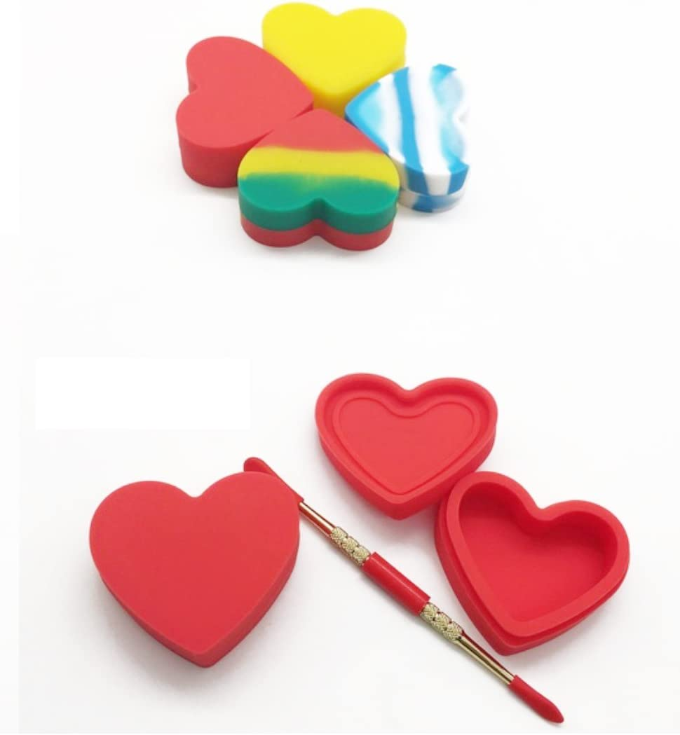 2021 autumn and High quality new winter new FWD 17ML Non Stick Heart Shape Silicone Wax Container 1 Jar