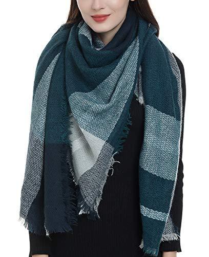 Plaid Blanket Scarf Women Big Square Long Scarves Warm Tartan Checked Shaw