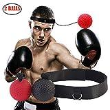 GRACETOP Reflex Boxing Ball Fight Training Speed Video, Impara Le abilità di Base delle Arti Marziali i riflessi e l'abilità Livelli di migliora la velocità del Tempo di Reazione (2-Ball)