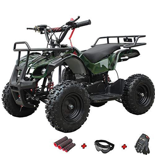 X-PRO Kids ATV 4 Wheelers 40cc ATV Quads Kids Quad with Gloves, Goggle and Handgrip (Green Camo)