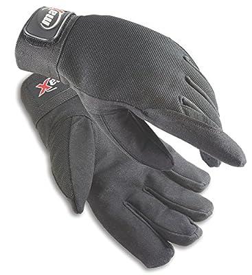 Galeton maX 2.0 Sport Utility/Mechanics Work Gloves with Wrist Tabs, Black