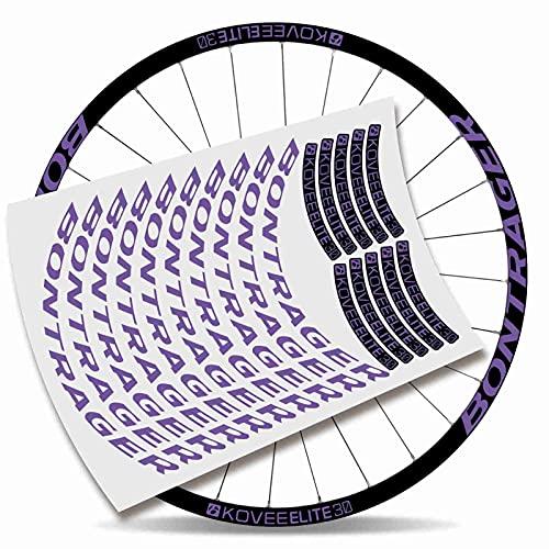 Kit Pegatinas Bicicleta Stickers LLANTA BONTRAGUER KOVEE Elite 30 MTB BTT (Lavanda)