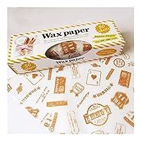 YVCHEN 50pcs / lotはワックスペーパー食品グレードグリース紙の食品包装機械包装紙のためにパンバーガーフライドポテトオイル紙ベーキングツール (Color : 50pcs)