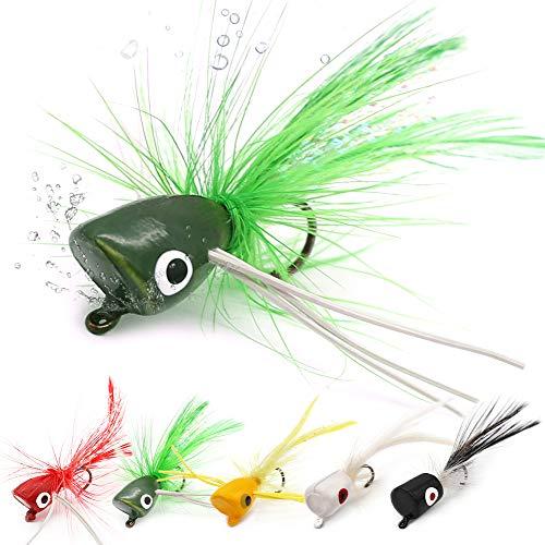 XFISHMAN Popper Flies For Fly Fishing