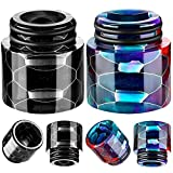 510 Resin Drip Tips Drip Tip Replacement Honeycomb Standard Drip Tip Resin drip connector tip for Ice Maker Coffee Machine (Black, Rainbow Colors,2 Pieces)