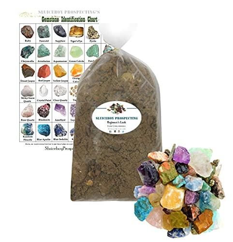 Sluiceboy Prospecting Gem Mining Rough Stone Mix   8 POUNDS of Gemstone Paydirt   Guaranteed Gemstones   Mining Rock Dig Gem Dig