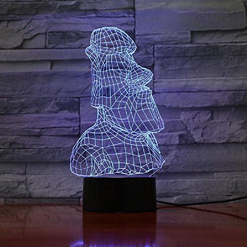 3D Lamp Easter Island Stone Moai