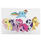Rompecabezas My Little Pony de 1000 piezas de madera para decoración familiar, regalos únicos para niños, adolescentes y adultos