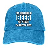 HGHGH Sombrero Vaquero I'm Holding A Beer So Yeah I'm Pretty Busy Classic Baseball Cap Trucker Hat A...