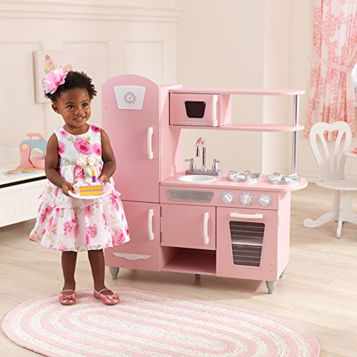KidKraft Wooden Vintage Play Kitchen - Pink