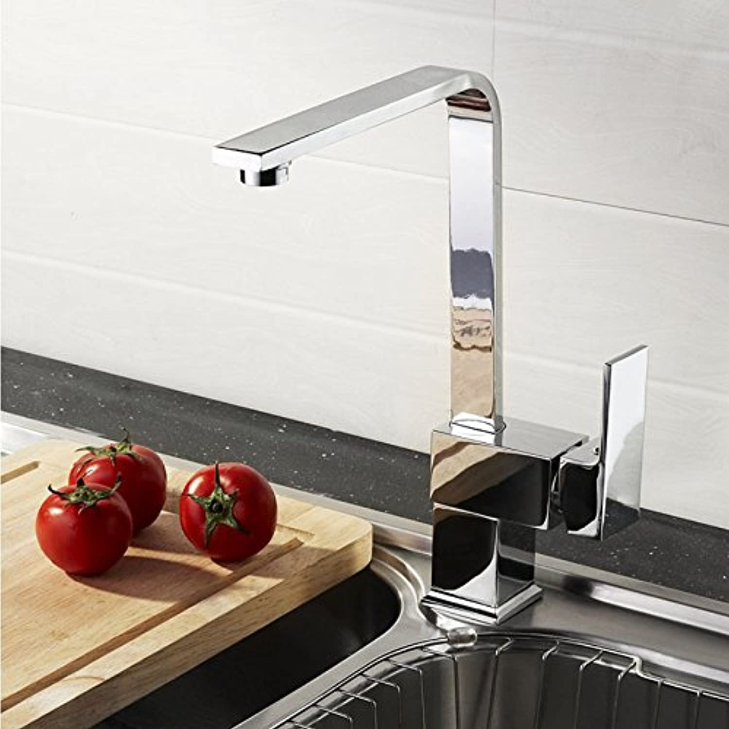 FORTR HOME copper seven-shaped 360 degree redating sink faucet kitchen faucet