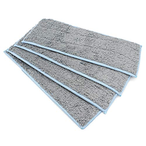 DingGreat Paquete de 4 Almohadillas de mopa húmedas Lavable