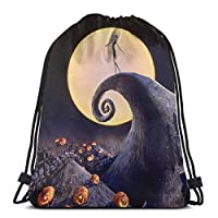 The Nightmare Before Christmas Drawstring Backpack Sports Gym Bag For Women Men For Hiking Yoga Swimming Travel Beach [並行輸入品]