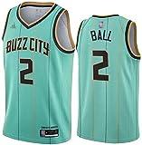 TPPHD Jerseys de Baloncesto para Hombres, NBA Charlotte Hornets # 2 Lamelo Ball Swingman Jersey, Vintage Cool Tela Transpirable All-Star Unisex Uniforme,1,M