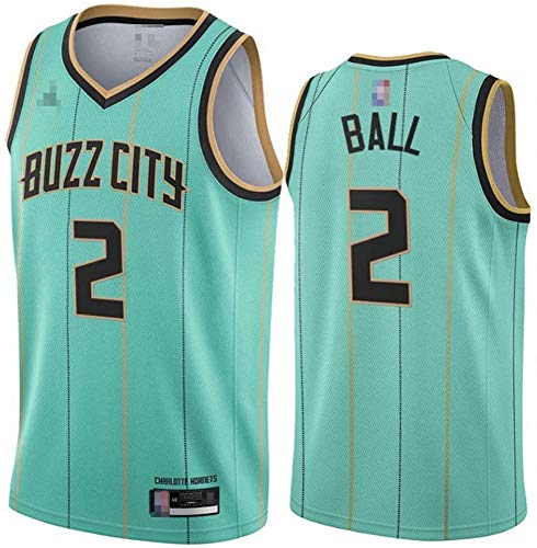 TPPHD Jerseys de Baloncesto para Hombres, NBA Charlotte Hornets # 2 Lamelo Ball Swingman Jersey, Vintage Cool Tela Transpirable All-Star Unisex Uniforme,1,L