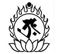 エアブラシ ボディージュエリー ヘナタトゥー用ステンシル/梵字 タラーク H:10cm