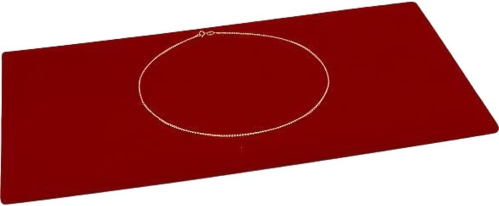 Recommended FindingKing Red Velvet Jewelry Chain Showcase I 5 popular Display Pad Tray