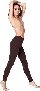 Women's Cotton Spandex Jersey Legging Size S Brown