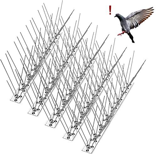 AOKKR Taubenabwehr*340cm-Edelstahl Vogelabwehr-Rostfreie Taubenabwehr Spikes ausreichend-Vogelschreck undVogelschutz für Balkon Dach Garten