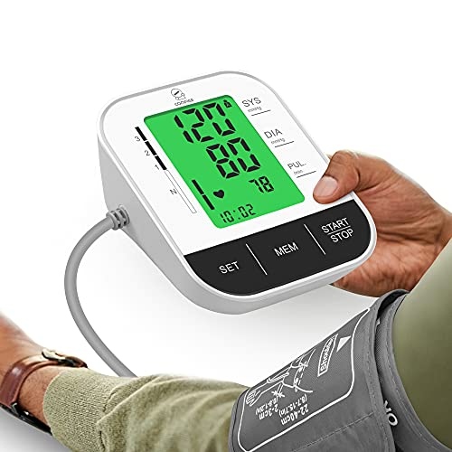 Comfier Arm Blood Pressure Monitor,Automatic Blood Pressure Cuff Machine,Accurate BP Machine,Large LCD Display & Voice Broadcast,Wide Range Cuff Kit for Home Use,Store 2x120 Sets Memory,Carry Case