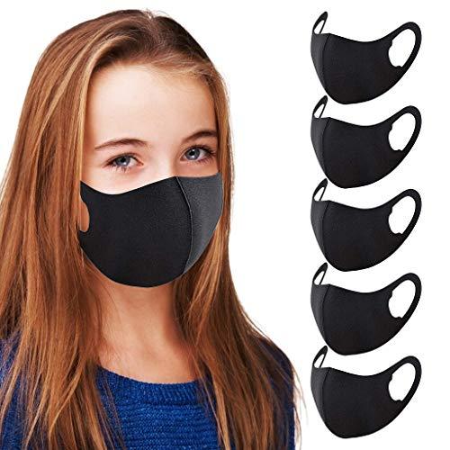 Kinder Mundschutz Cute Jungen Mädchen Waschbare Verstellbare Cartoon Schöne Half Face Bandanas mit Drucken Motiv Mund Nasen Face Coverings