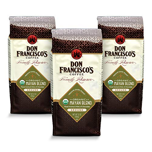 Don Francisco's Ground Organic Mayan, Medium-Dark Roast Coffee (3 x 12-ounce bags)
