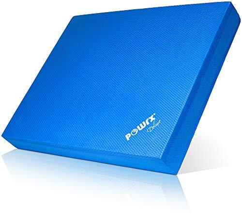 POWRX Balance Pad/Sitzkissen/Kissen Yoga Pilates (Dunkelblau)
