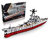 inFUNity WW2 Toys USS Missouri BB-63 Battleship Model (33 inches 2631 Pieces) Building Blocks Compatible with Major Brand