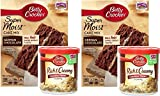 Betty Crocker German Chocolate Cake Mix and Coconut Pecan Frosting Bundle - 2 of Each