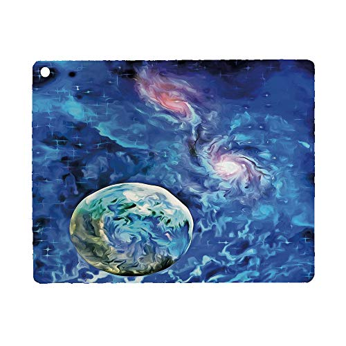 Constellation Case for iPad 9.7 2018 2017(6th Gen, 5th Gen)/iPad Air 2/iPad Air,PU Leather Case with Stand Function/Auto Sleep Wake Up Turquoise Blue Light Pink