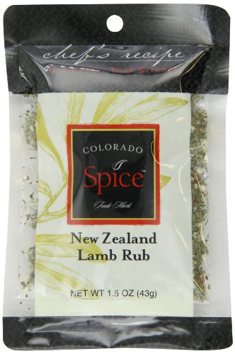 Colorado Spice Company, Beef, Poultry, Pork and Lamb Spice, New Zealand Lamb Rub 1.5-Ounce Packet (Pack of 12)