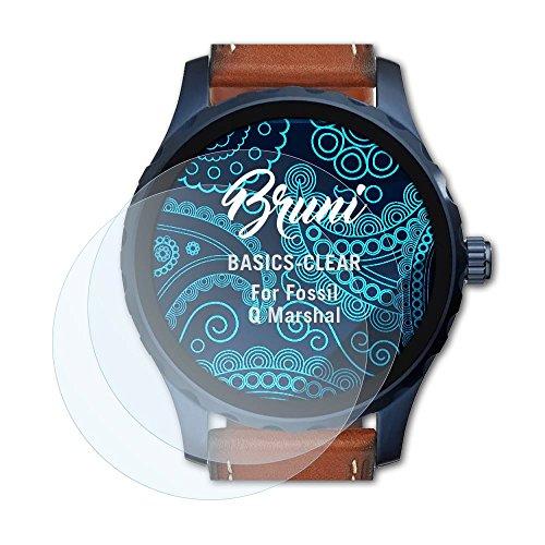Bruni Schutzfolie kompatibel mit Fossil Q Marshal Folie, glasklare Bildschirmschutzfolie (2X)