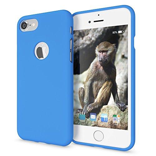 NALIA Cover Neon compatibile con iPhone 7, Custodia Protezione Ultra-Slim Neon Case Protettiva Morbido Cellulare in Silicone Gel, Gomma Telefono Smartphone Bumper Sottile, Colore:Blu
