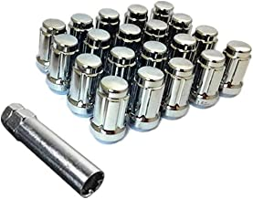 UPGR8 S-Series 20 Pieces Steel Closed Ended Wheel Lug Nuts with Key (M12 X 1.5MM, Chrome)