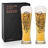 Ritzenhoff Vladimir Bott Falconer & Lumberjack), set di bicchieri da birra in cristallo da 669 ml,...