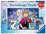 Ravensburger Kinderpuzzle 09074 - Frozen - Nordlichter - 2 x 24 Teile -