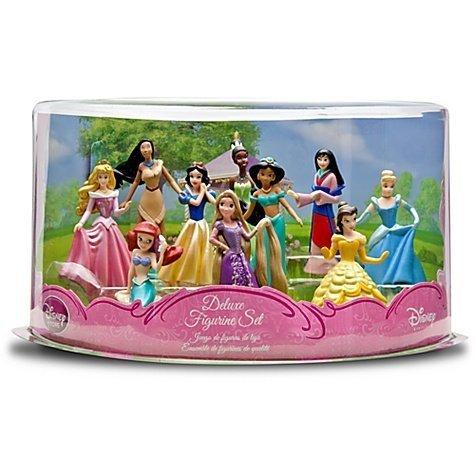 Disney DELUXE Figuren Set Prinzessinen RAPUNZEL MULAN POCAHONTAS SCHNEEWIITCHEN ASCHENPUTTEL ARIELLE JASMIN