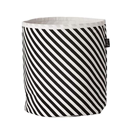 Ferm Living - Aufbewahrungskorb - Wäschekorb - Stripe - Baumwolle Ø 22 cm Höhe 25 cm