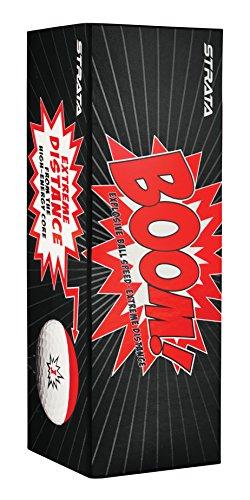 Strata Boom Golf Balls, (Two Dozen), White