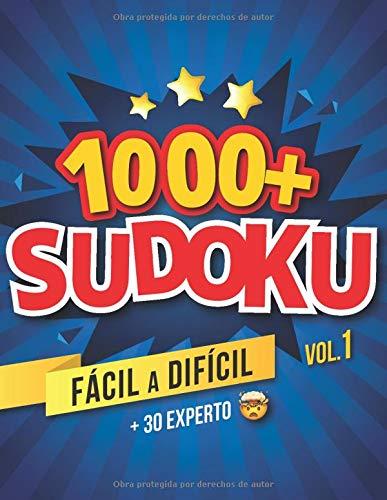 1000+ SUDOKU   FÁCIL A DIFICIL + 30 EXPERTO   Vol. 1  : Libro de Sudoku Para Adultos   21 x 27 cm