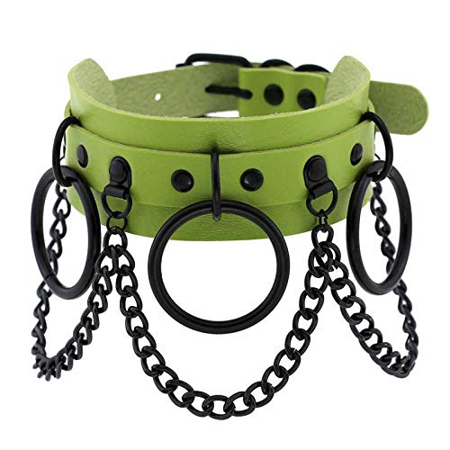 Collar Colgante Joyería Collar De Exageración Moda Rock Punk Skull Collares Collar Vintage Mujeres Joyería-Verde