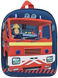 Fireman Sam - Mochila 3D para niños, azul marino (Azul) - MNCK10758