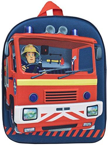 Feuerwehrmann Sam-Rucksack für Kinder, mit Feuerwehrauto-Motiv und 3D-Effekt, für Jungen und Mädchen, navy (Blau) - MNCK10758
